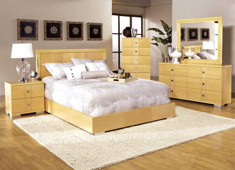 Liebenswert, Ahorn Schlafzimmer set, Holz schlafzimmer