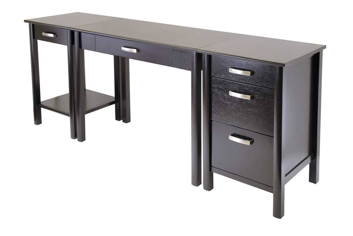 Long Black Computer Desk Office Furniture For Home Check More At Http