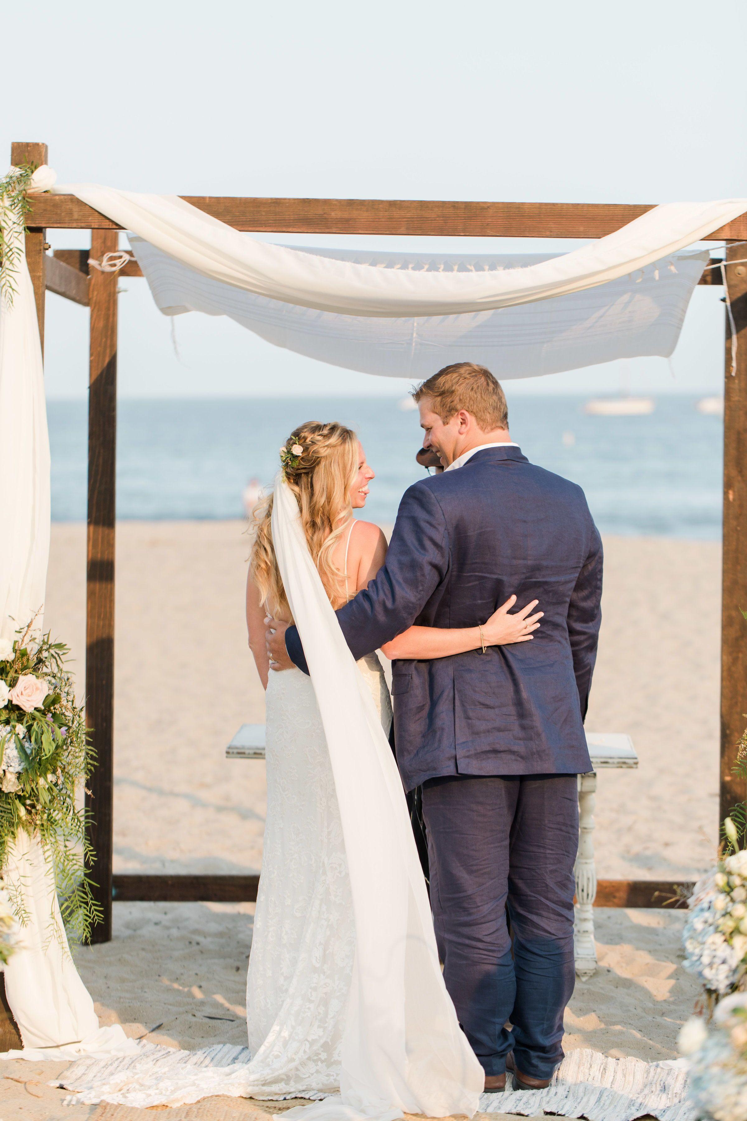 Beach wedding decorations diy  Alex u Harrison  Alex u Harrison Santa Barbara Beach Wedding