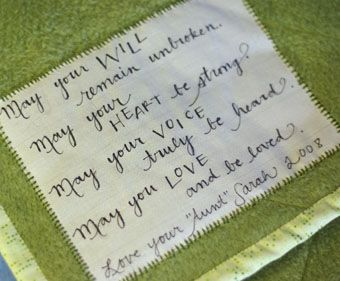 May your will remain unbroken quilt label | Quilts, Quilts, Quilts ... : baby quilt label sayings - Adamdwight.com