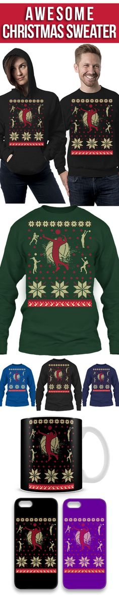 Volleyball Christmas Ugly Sweater! Click The Image To Buy It Now or