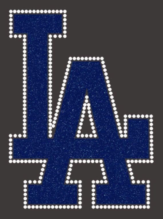 Mlb Los Angeles Dodgers Glitter Rhinestone Iron On Transfer La