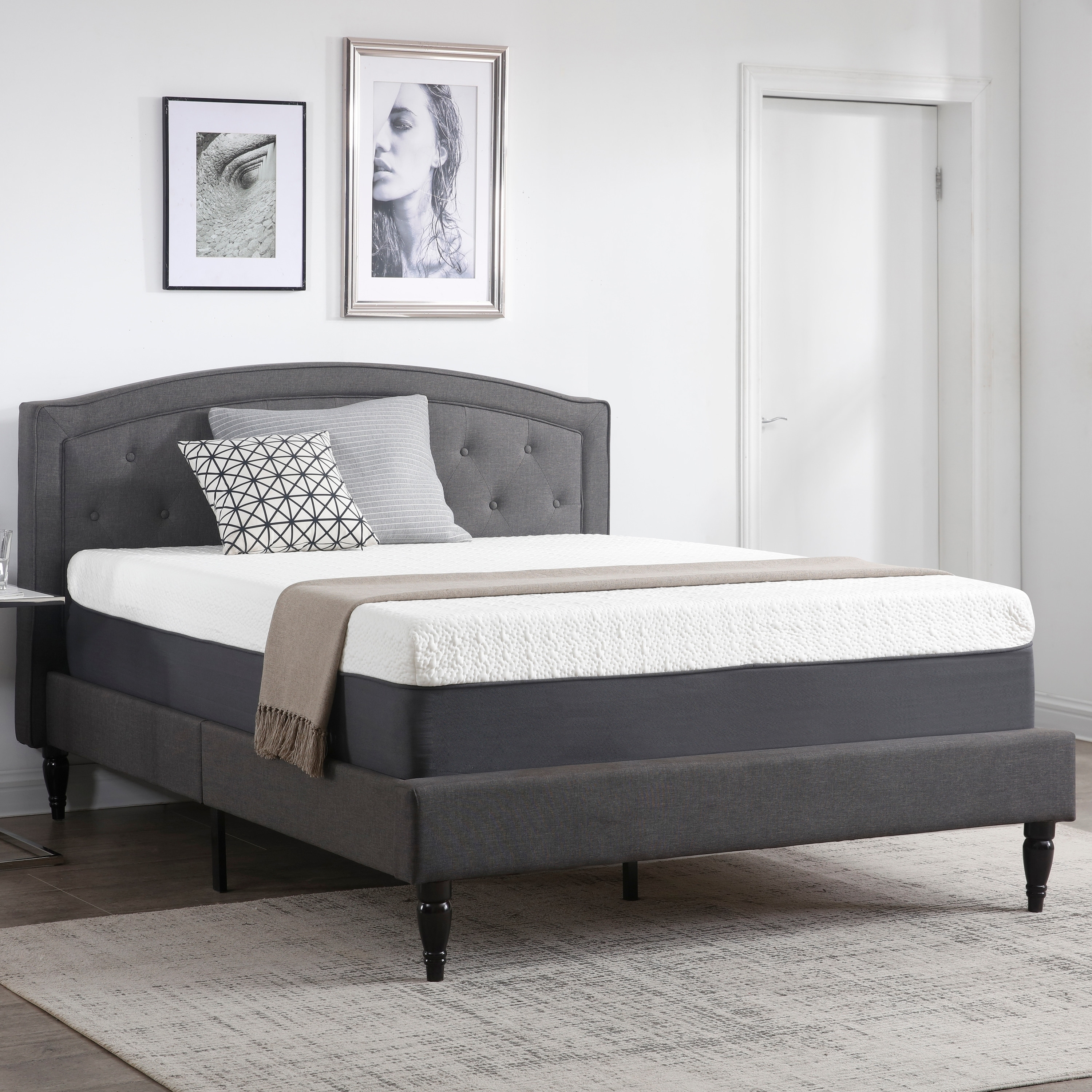 14 Inch Gel Infused Memory Foam Mattress With Certipur Us
