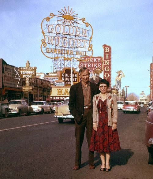 Elderly couple. Vintage Vegas.