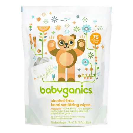 Babyganics Alcohol Free Hand Sanitizing Wipes Mandarin On The Go