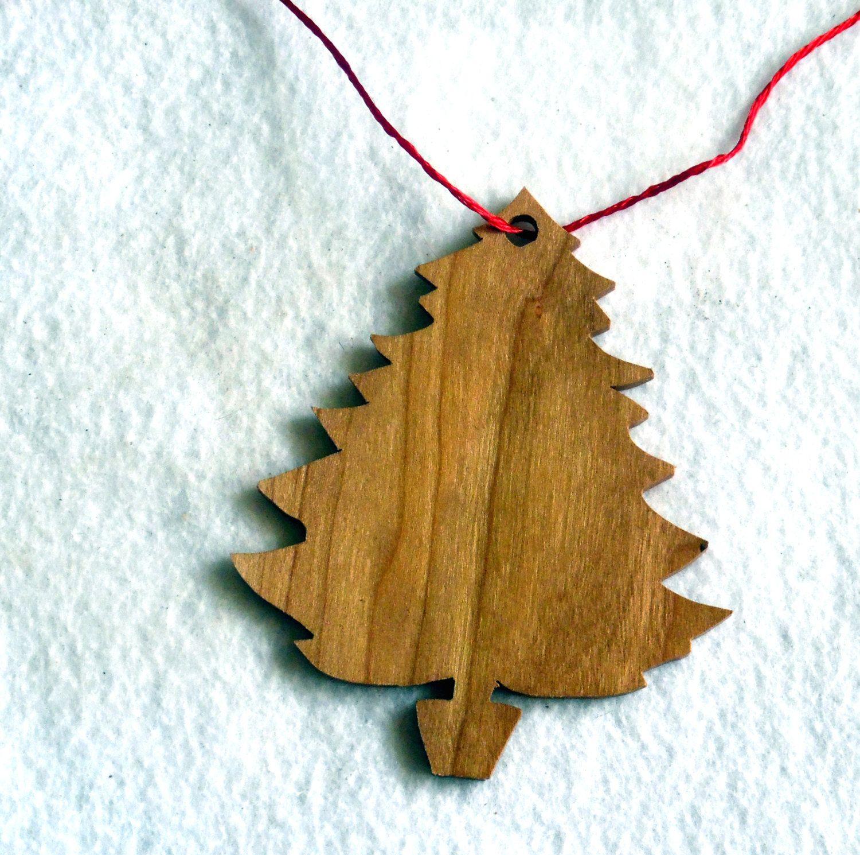 Scroll saw christmas tree ornament by scrollsawgrandpa on etsy