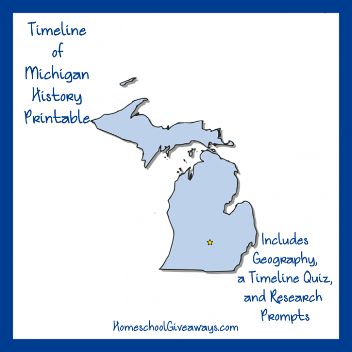 FREE Michigan State Printable | State history, Homeschool ...