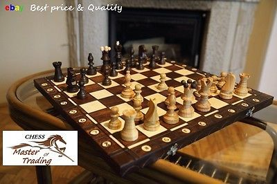 Top #quality ''ambassador'' wooden chess set #54x54! superb #chessboard and piece,  View more on the LINK: 	http://www.zeppy.io/product/gb/2/131331315605/