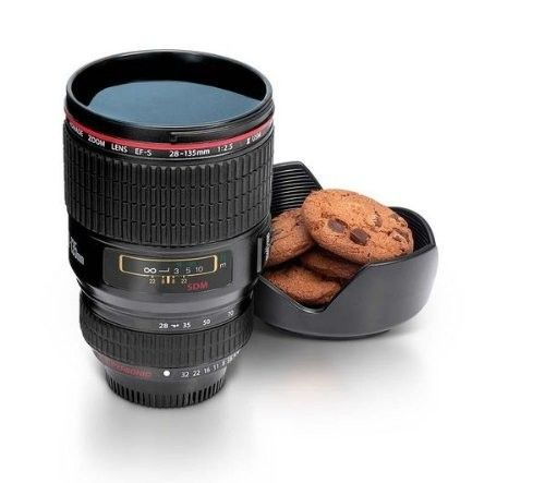 Camera Lens Cup with Cookie Holder :D Sweeet..... http://www.amazon.com/KJB-Security-Camera-Lens-Cup/dp/B0058CW9UO/?_encoding=UTF8=1789=9325=ur2=0pinterest-20