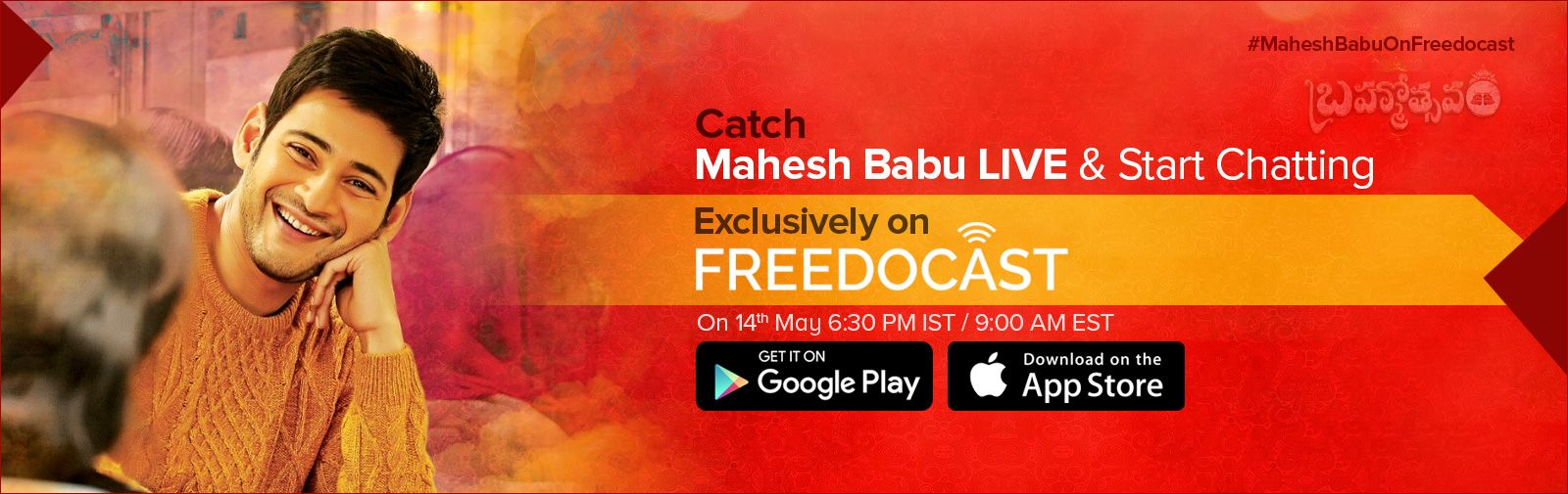 Live chat with super star maheshbabu on freedocast telugu tv