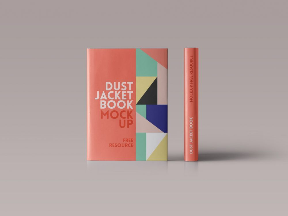 High Res Mockup 6600 X 5800 Px At 300 Dpi Showing The Side And Front Of A Hardcover Book All Layered Psd Free Mockup Book Free Book Cover Design Book Cover