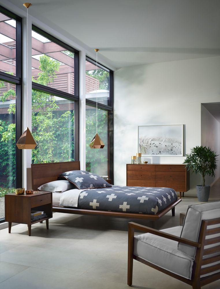 20+ Beautiful Vintage Mid Century Modern Bedroom Design Ideas ...