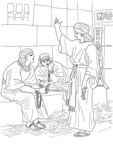 Joseph In Prison Coloring Page Sunday School Coloring Pages Bible Coloring Pages Bible Coloring
