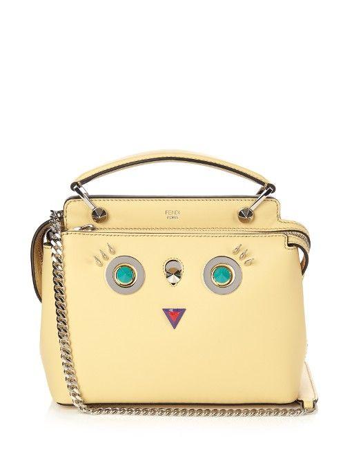 e7764058d44b FENDI Dotcom Small Round Eyes Leather Cross-Body Bag.  fendi  bags   shoulder bags  clutch  metallic  suede  hand bags