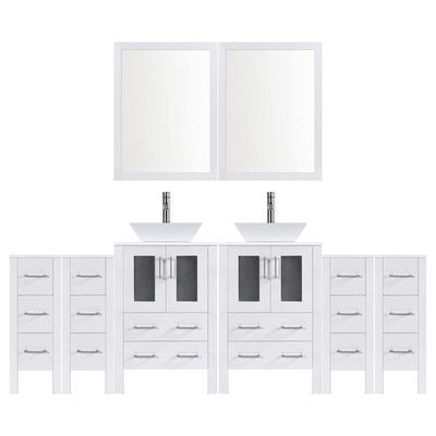Lesscare Modern 120 Double Bathroom Vanity Set With Mirror Base Finish White Double Vanity Bathroom Modern Bathroom Vanity Vanity Set With Mirror