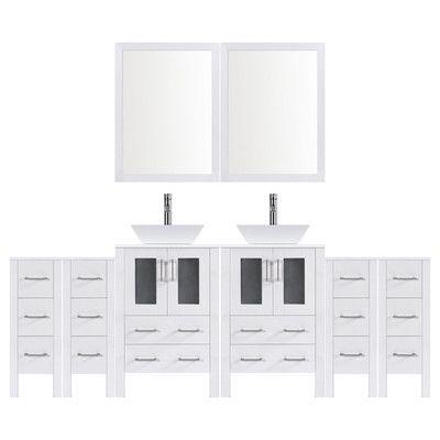 Lesscare Modern 120 Double Bathroom Vanity Set With Mirror Base Finish White Double Vanity Bathroom Modern Bathroom Vanity Vanity Set With Mirror