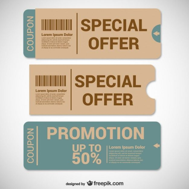 Offer Coupons Templates Voucher Design Coupon Design Ticket Design