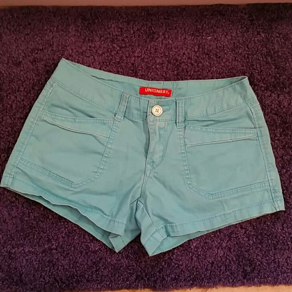 Unionbay shorts size 5 Great condition. Turquoise shorts size 5. 3 inch inseam. Unionbay Shorts