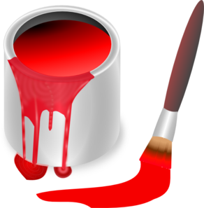 Red Paint Brush And Can Clip Art Vector Clip Art Online Royalty Free Public Domain Clip Art Paint Party Teaching Colors