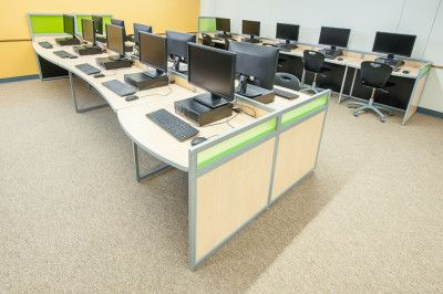 Gentil Computer Lab Furniture By Interior Concepts.