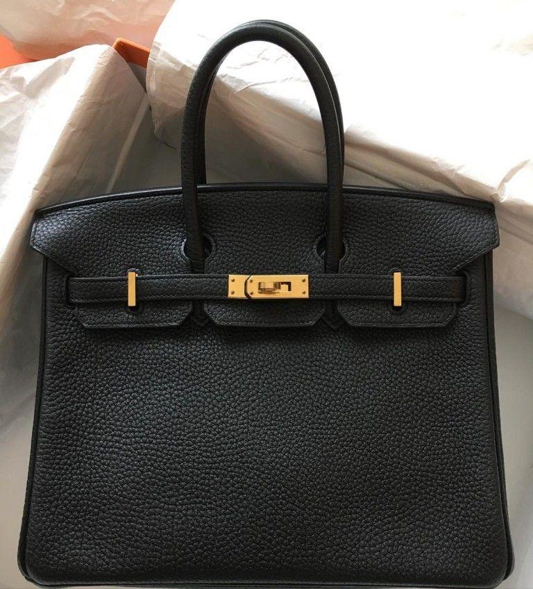 Hermes Birkin Bag 25 In Togo Leather