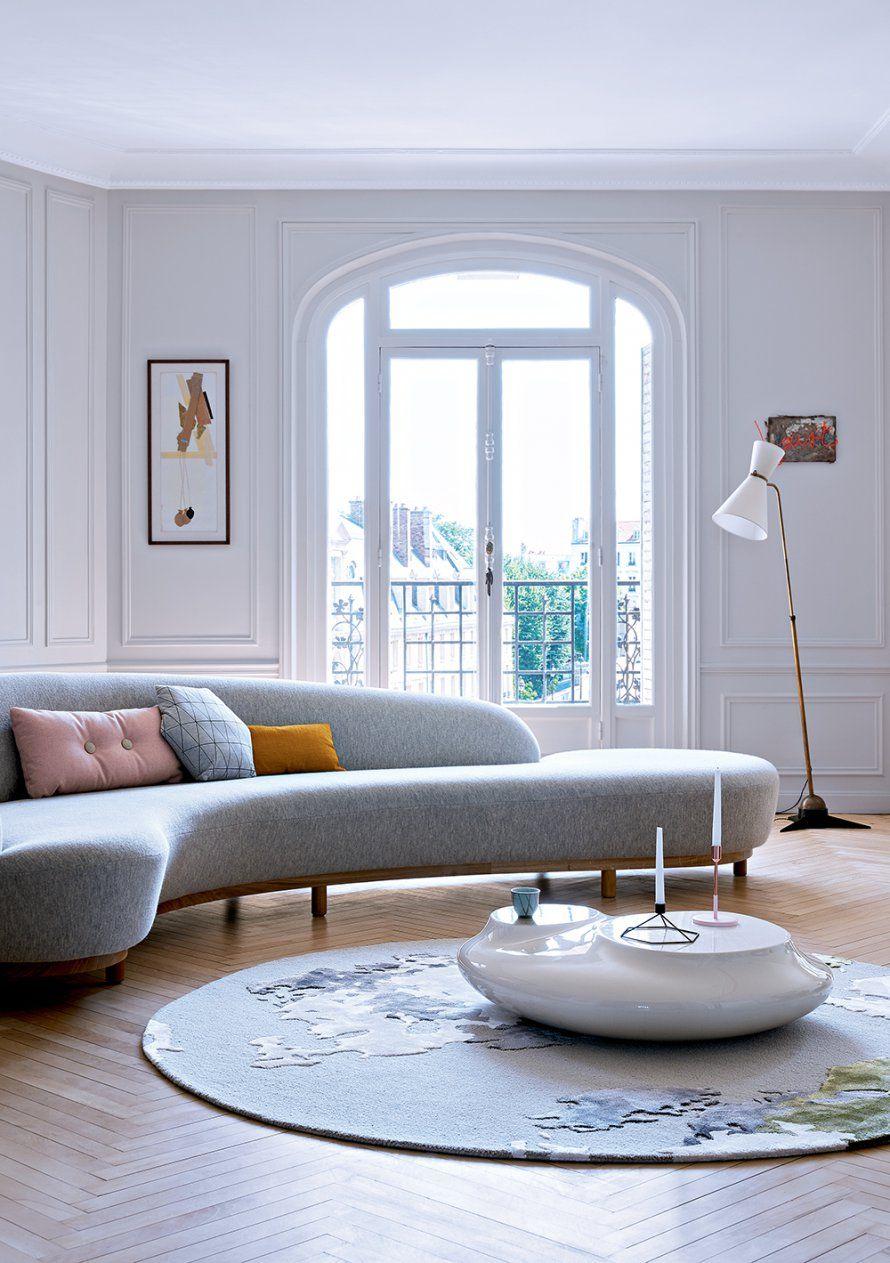 un salon contemporain autour du canape marie claire maison