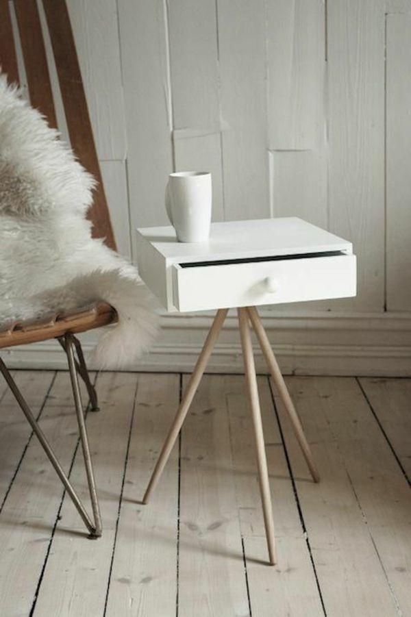 Beistelltisch mit schublade modern  skandinavische möbel beistelltisch schublade weiß | Möbel ...