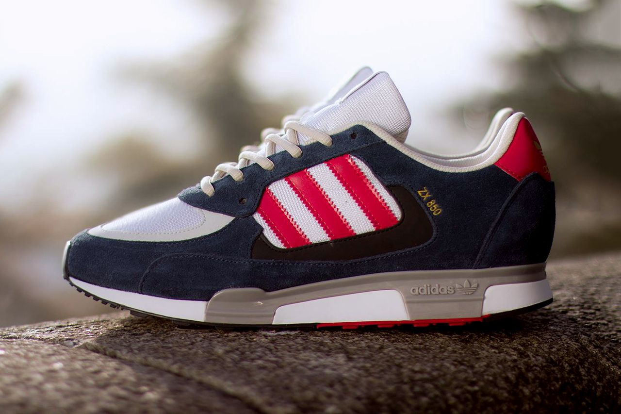 new concept 2c2ce 7977e ... wholesale adidas originals zx 850 new navy running white red 9a543 db786