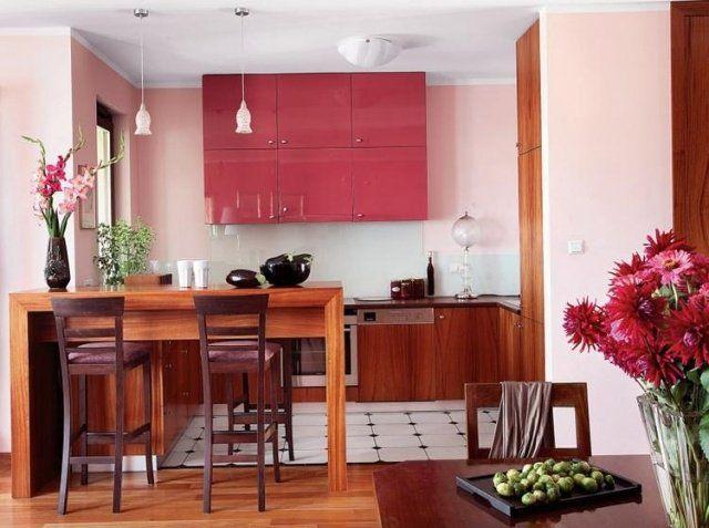 quelle couleur cuisine choisir 55 id es magnifiques couleur cuisine armoire rose et rose p le. Black Bedroom Furniture Sets. Home Design Ideas