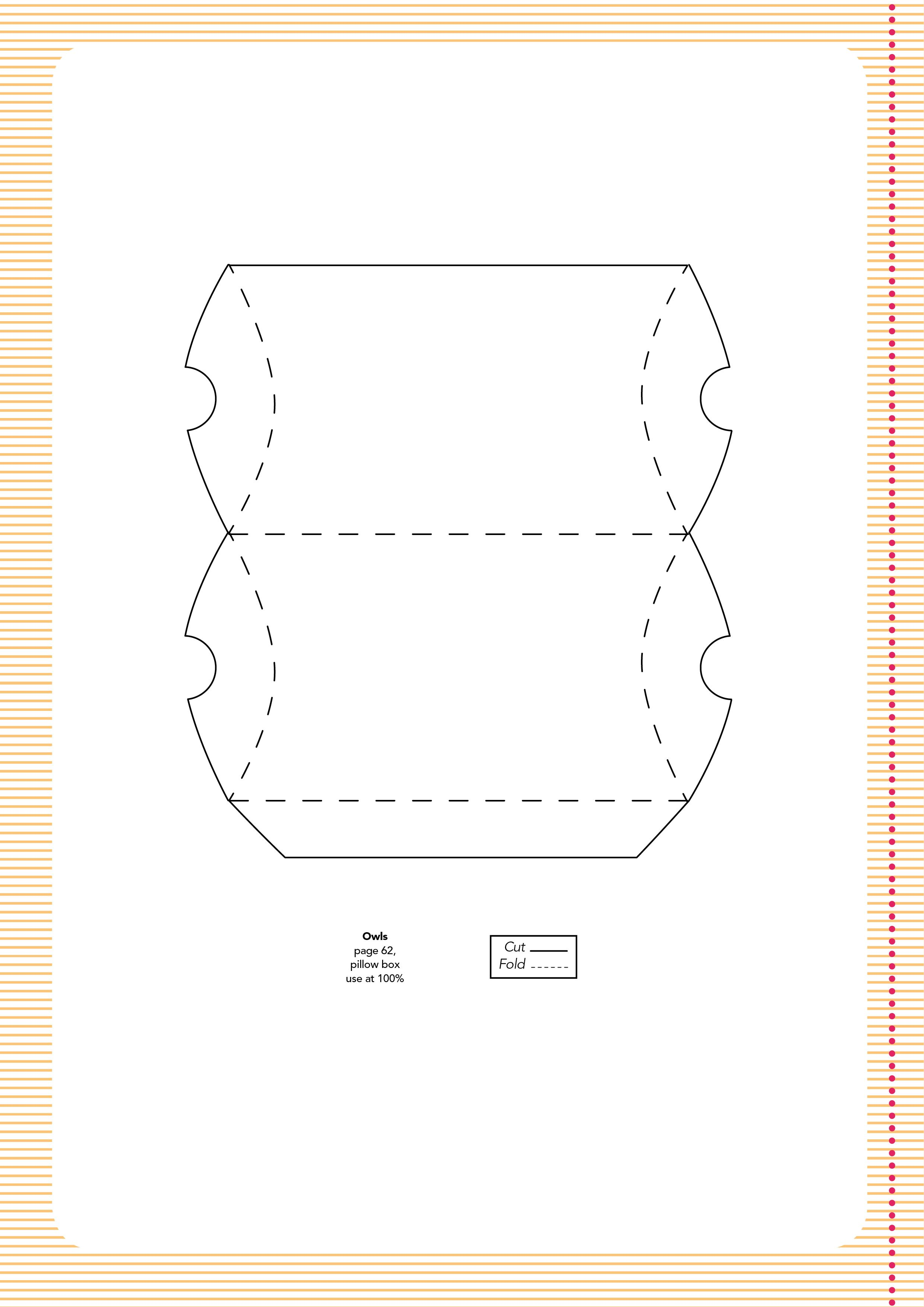 Pillow Box Template For Owl Card Papercraft Inspirations