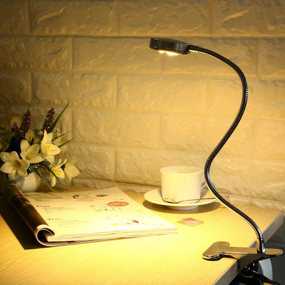EnergyEfficient LED Clamp Lamp Reading Light Flexible LED