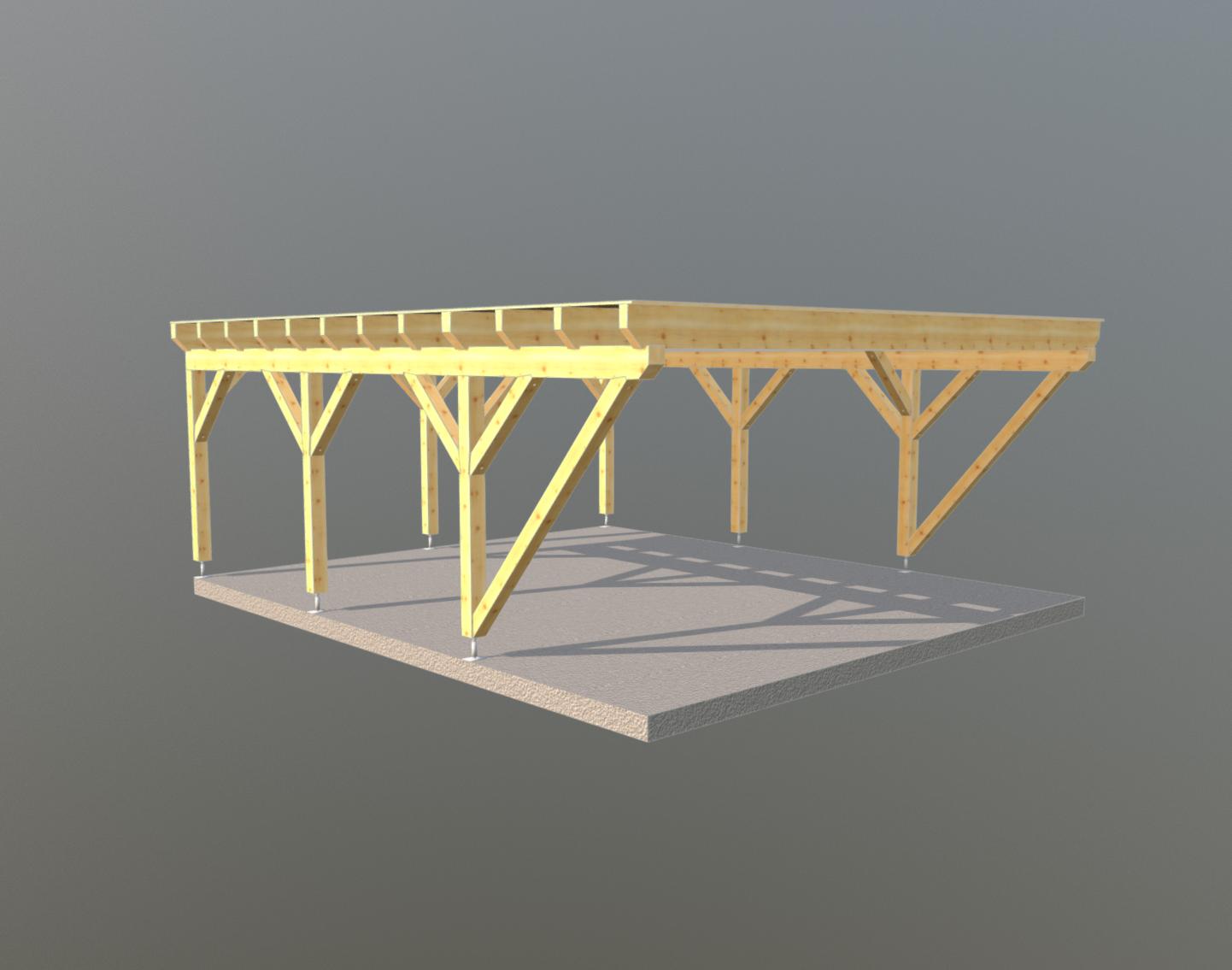 Holz carport 6m x 7m, carports aus polen, gartenhaus aus