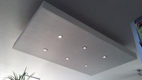 Un Caisson Decaissement Au Plafond Faux Plafond En Placo Plafond Suspendu Faux Plafond