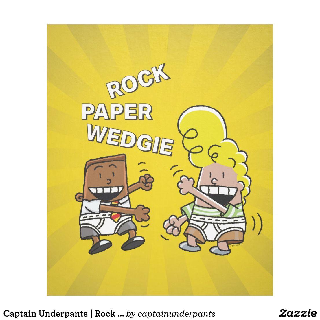 Rock Paper Wedgie Fleece Blanket
