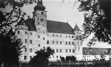 Hartheim castle, a euthanasia killing center where people with physical and mental disabilities were killed by gassing and lethal injection. Hartheim, Austria, date uncertain.
