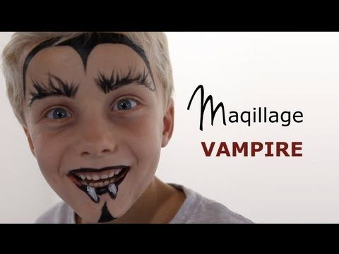 maquillage vampire tutoriel maquillage enfant facile youtube maquillage enfants. Black Bedroom Furniture Sets. Home Design Ideas