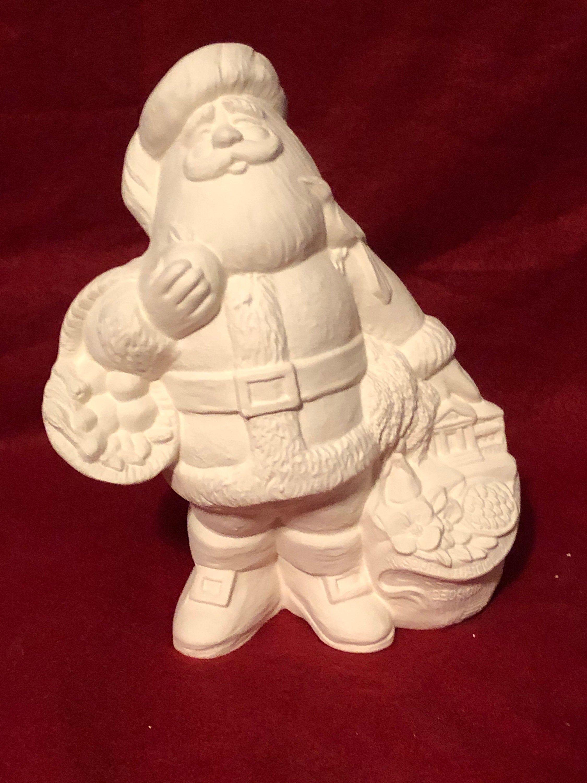 Georigia Santa Claus In Ceramic Bisque Ready To Paint In 2020 Ceramic Bisque Ceramics Bisque