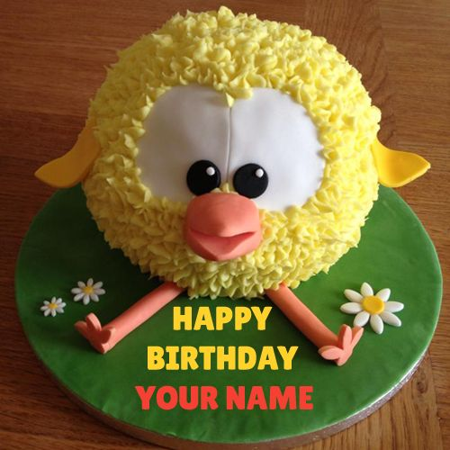 Write Name On Tweety Kids Birthday Cake with Name Pic ...