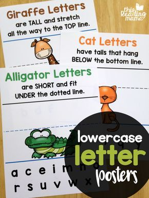 Animal Lowercase Letter Posters  Letter Formation Animal