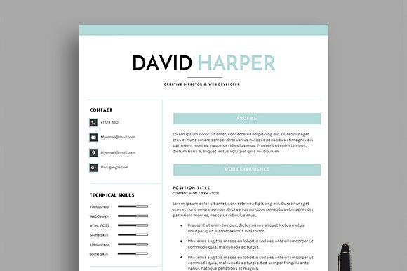Dh Resume  Pages Creativework  Best Resume Design