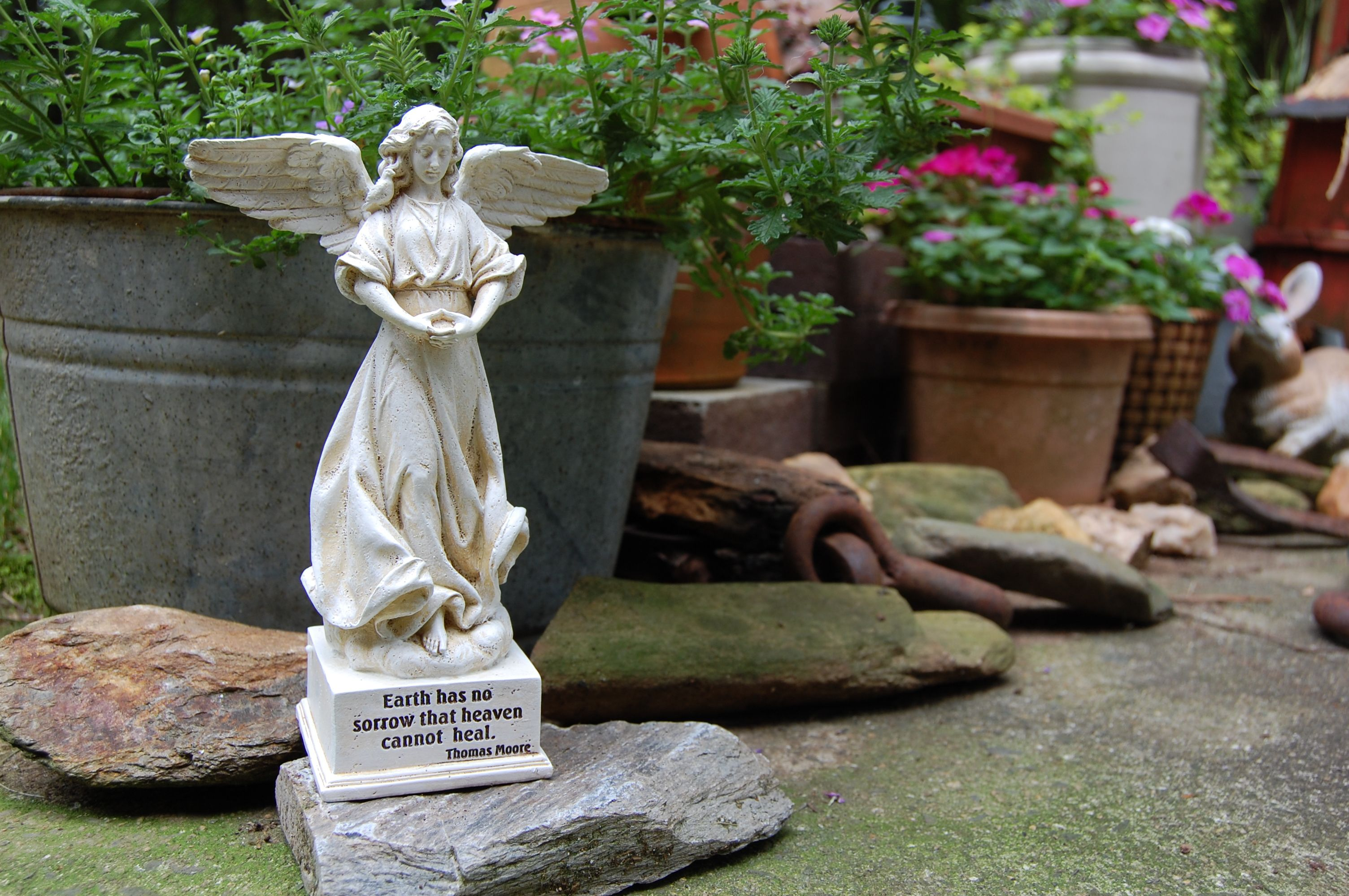 fairies garden us stunningly angel statues and statue for ornaments dipyridamole your angels beautiful of home