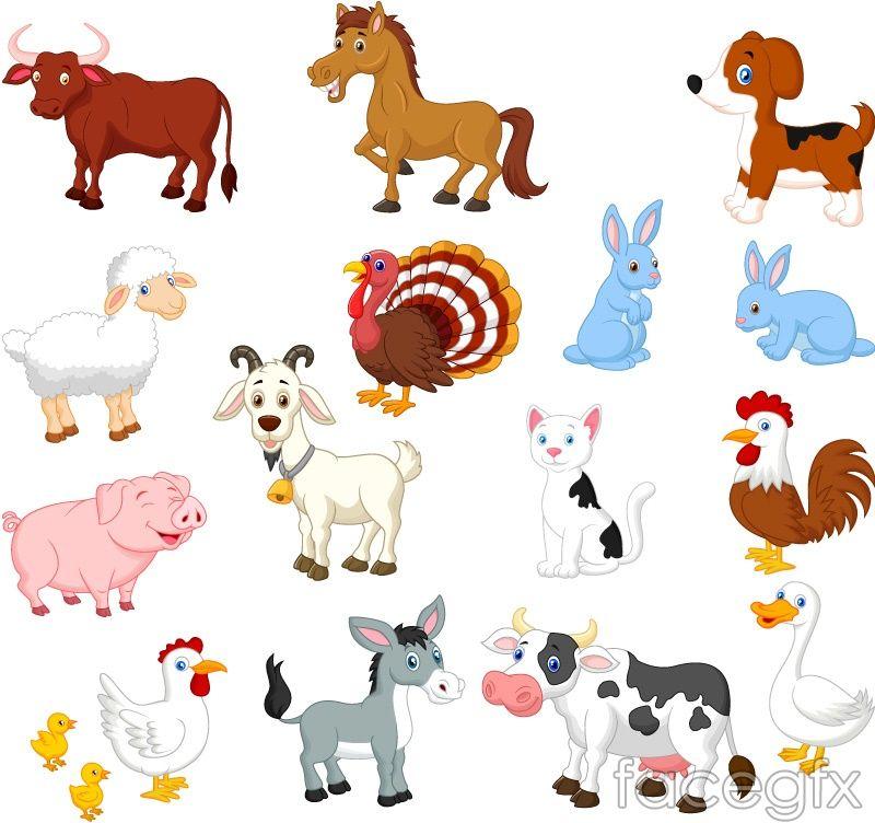 15 Cartoon Farm Animals Animal Vector Farm Animals Cartoon Animals Farm Cartoon