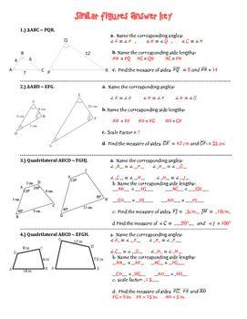 Similar Figures Practice Worksheet Geometry Pinterest Math