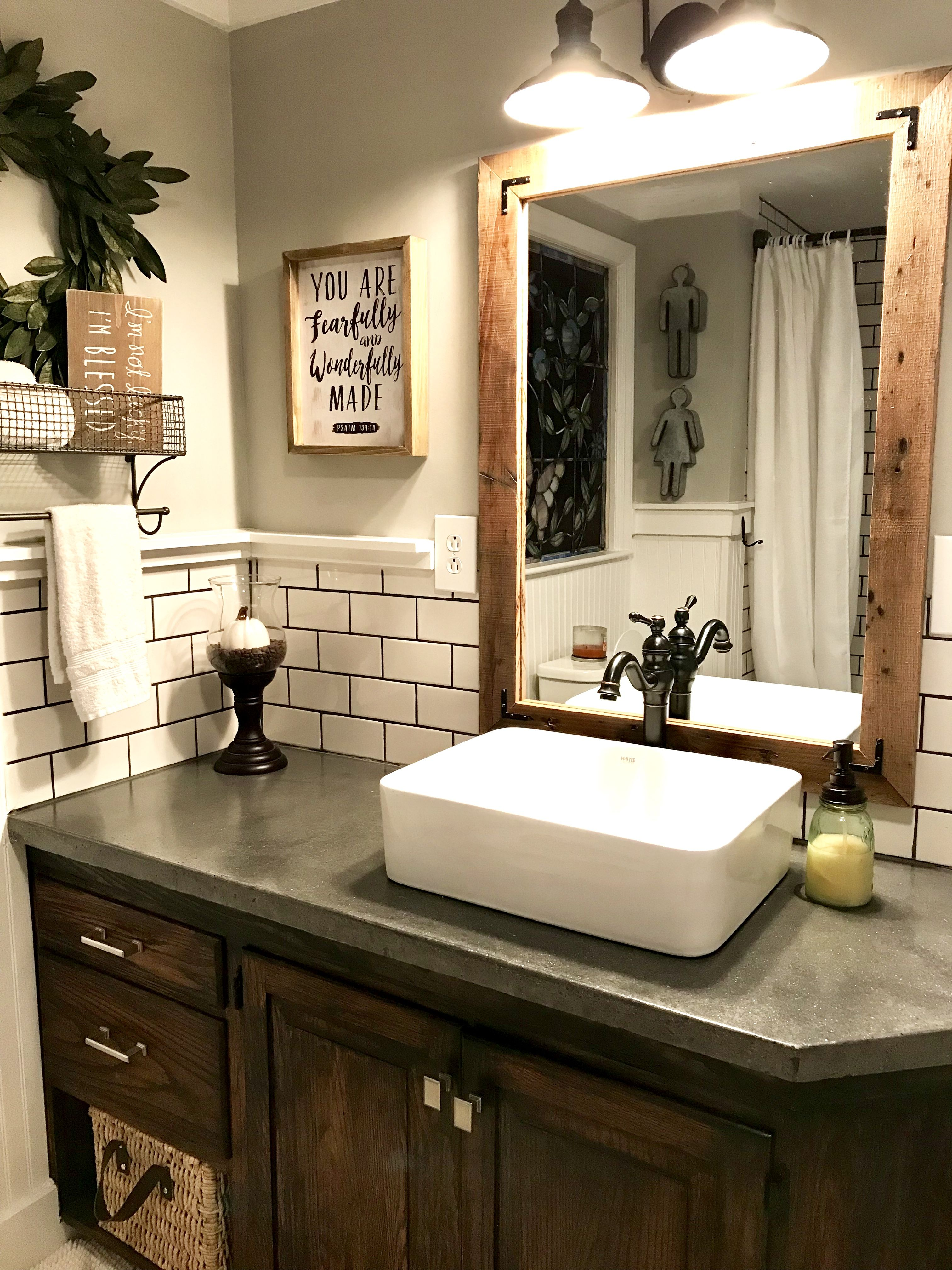 39++ Farmhouse vanity with vessel sink inspiration