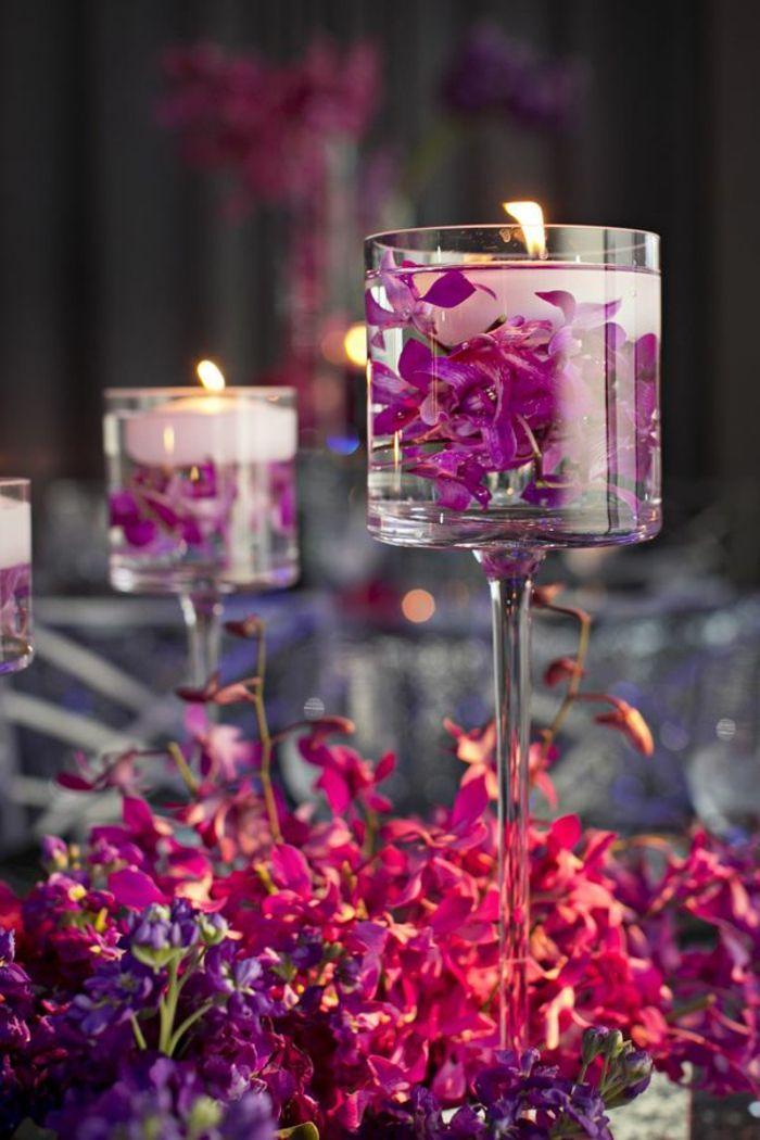 40 leichte schnelle und g nstige tischdekoration ideen zum erstaunen hochzeitsdeko lila lila. Black Bedroom Furniture Sets. Home Design Ideas