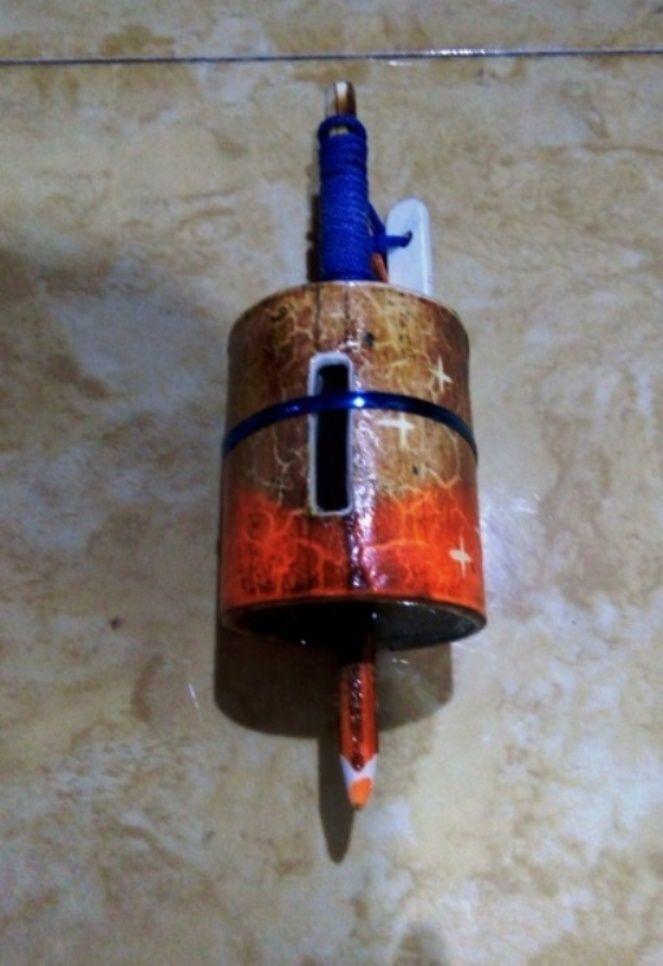 Gasing Paralon Bakar warna orange dengan bahan PVC 2 - menz holz katalog