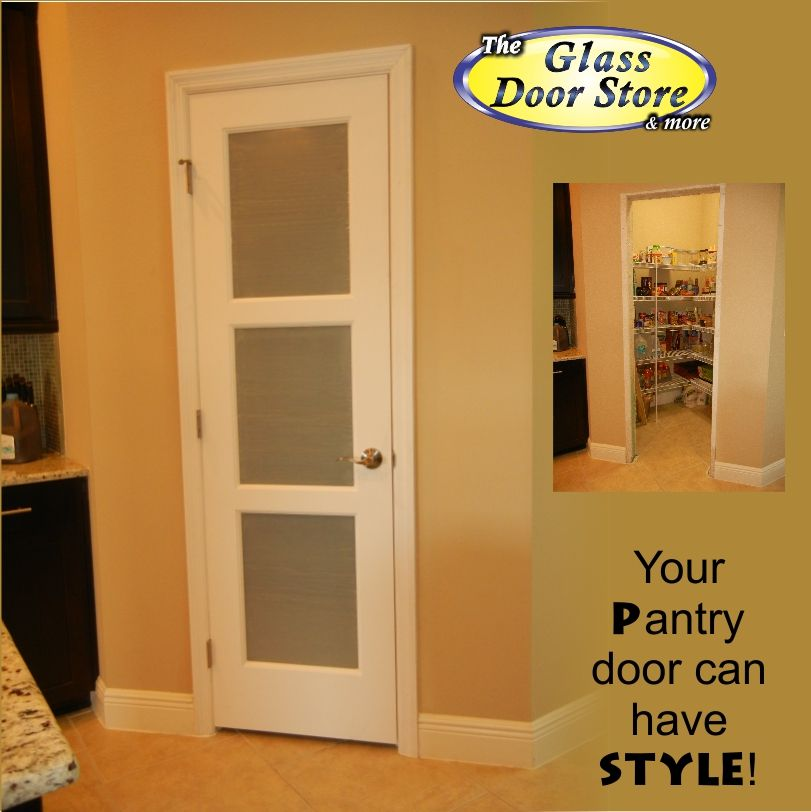Pantry Door With 3 Frosted Glass Panels. Interior Pantry Door Replaces A  Bifold Pantry Door