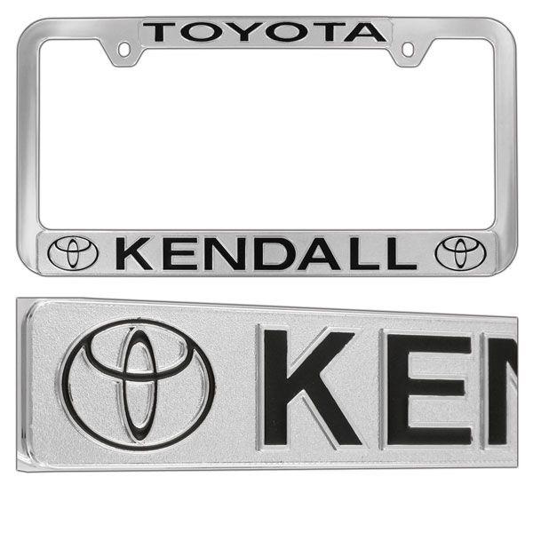 Chrome Plated Metalized Plastic License Plate Frame | Chrome License
