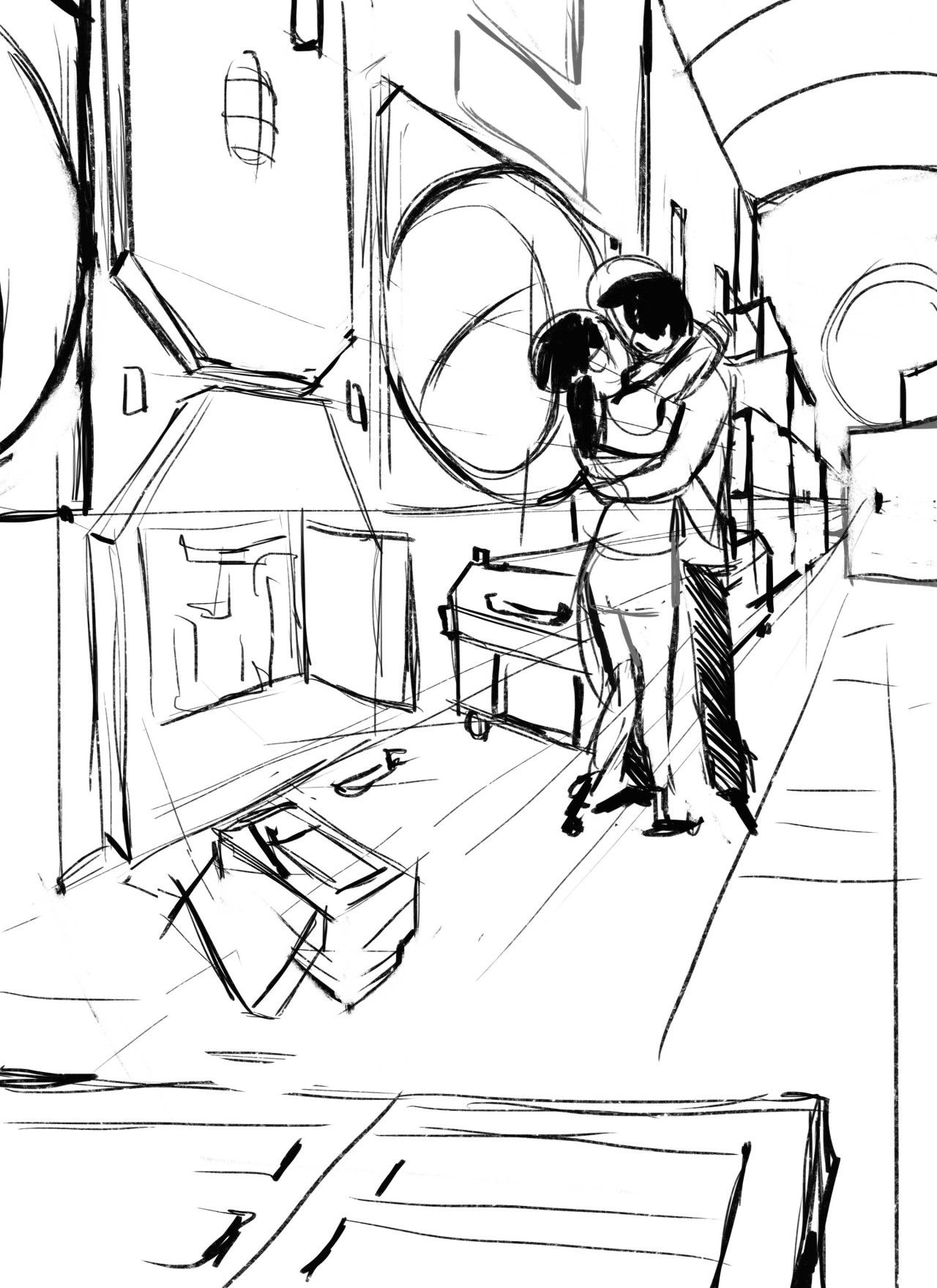 Cinder and Kai's real-first-kiss in the storage room of