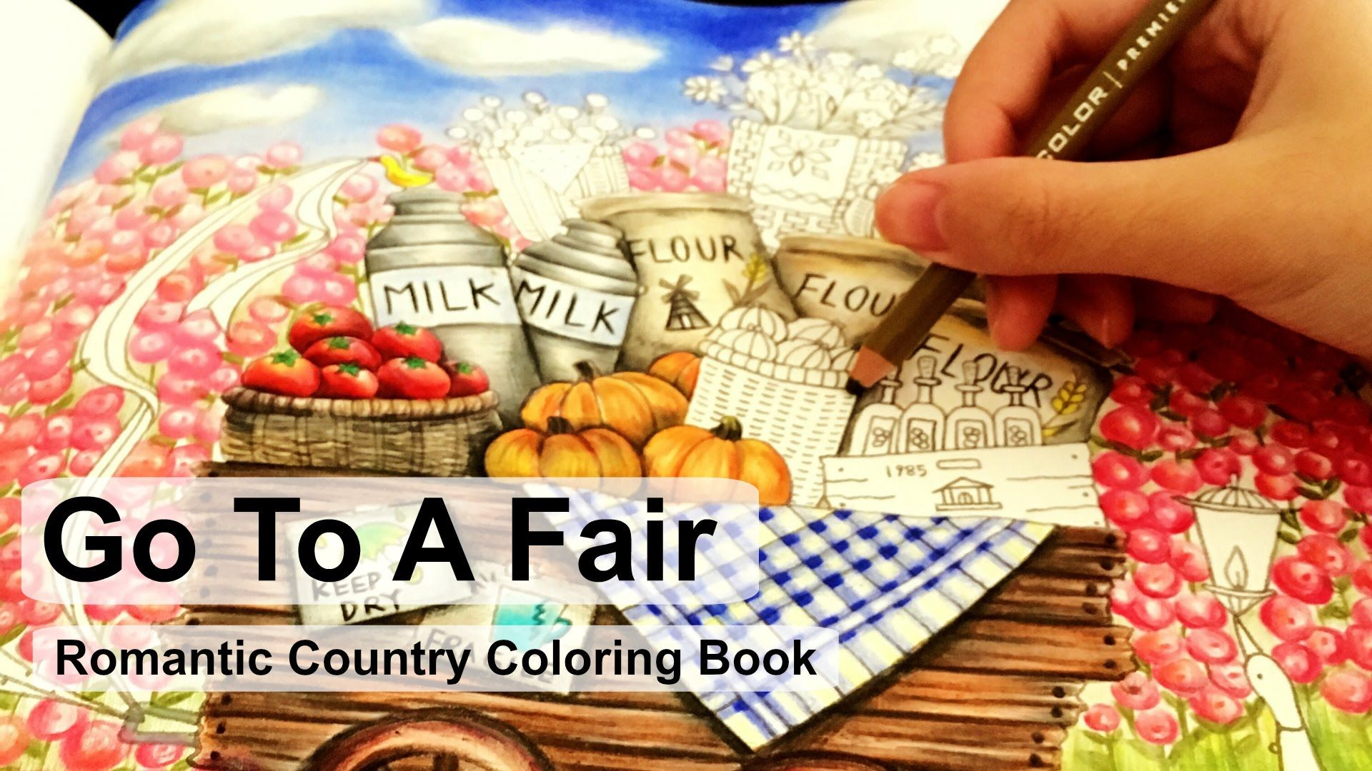 Go to a fair adult coloring book romantic country by eriy